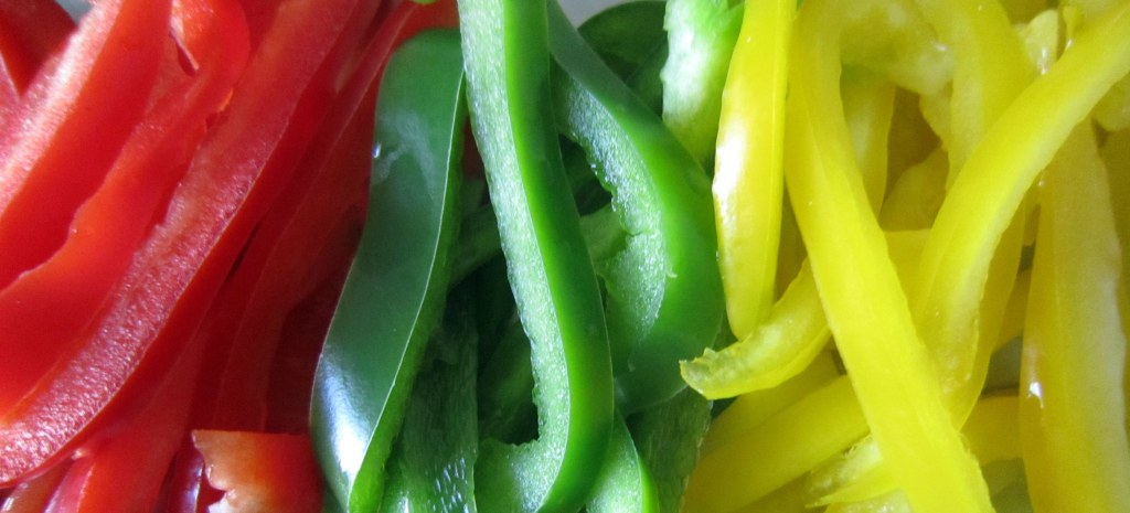 freshly cut capsicum
